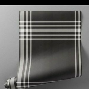 Hearth Hand Black White Plaid Wallpaper